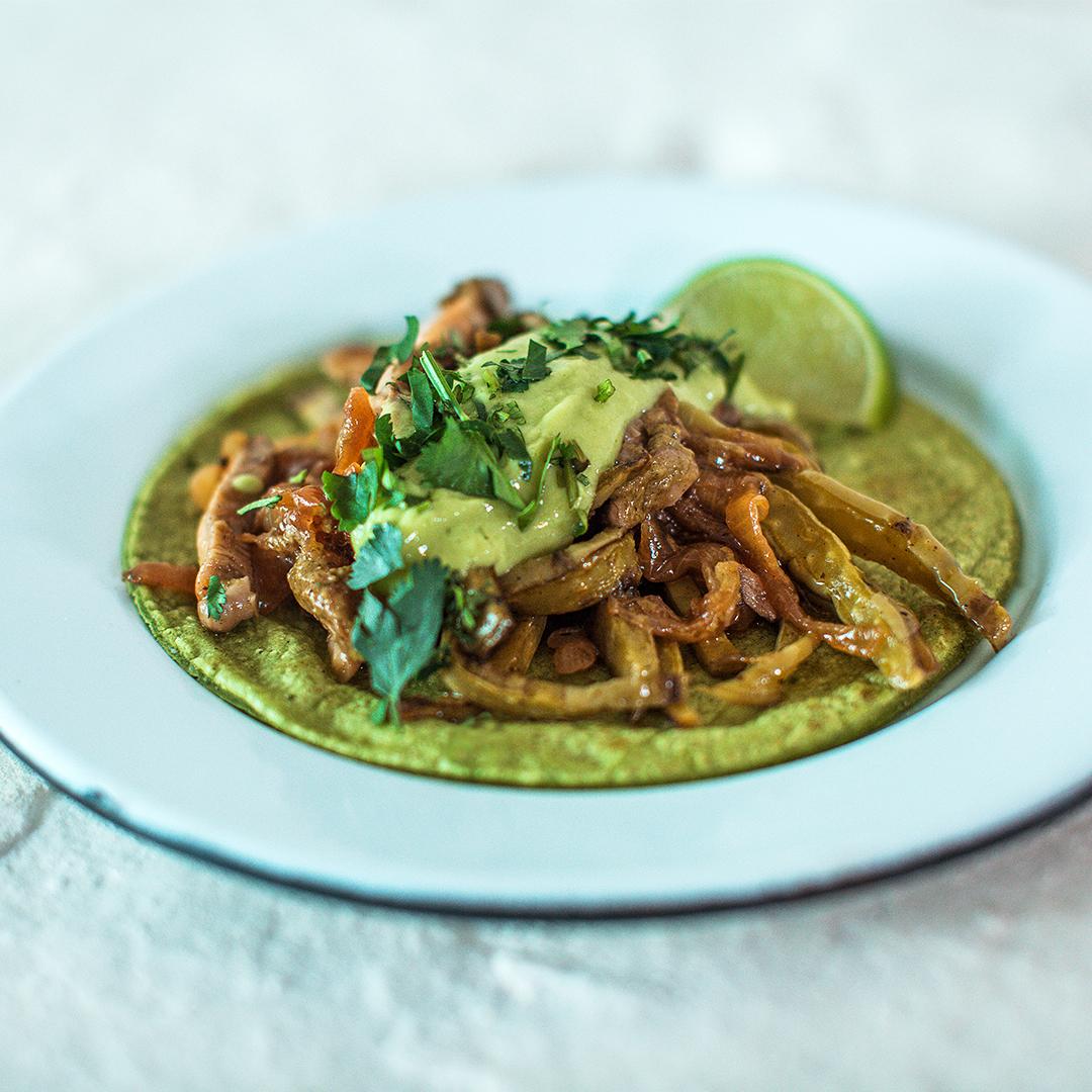 Taco de Nopal & Mushrooms